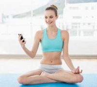 йога и телефон