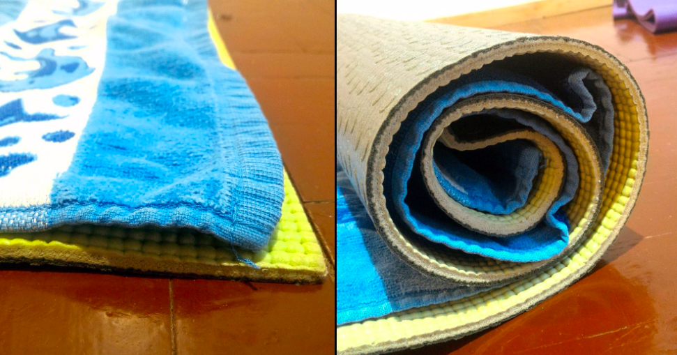 как высушить коврик для йоги